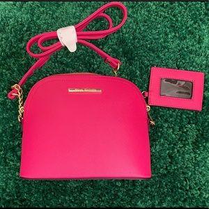 Steve Madden Pink/ Fuchsia Crossbody Bag